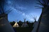 Teepees Under The Milky Way On The Apsaalooke  Or The Crow American Indian Reservation