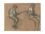 Two Studies of a Jockey  c1884