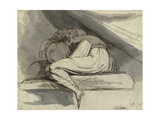 Woman Sitting  Curled up  after 1778