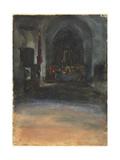 Spanish Church Interior  c1880