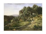 A View near Volterra  1838