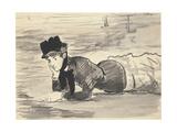 Woman Lying on Beach Annabel Lee  c 1881