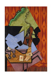 Violin and Playing Cards on a Table  1913
