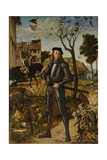Young Knight in a Landscape  1510