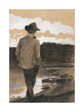 Young Man on a Riverbank  1902