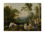 Diana and Her Nymphs in a Landscape  1644