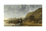 River Landscape with Riders  1653-7