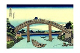Fuji Seen Through the Mannen Bridge at Fukagawa  Edo  c1830