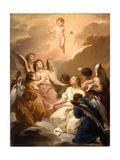 Seven Angels Adoring the Christ Child  c1730-40