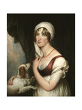 Sarah Trumbull with a Spaniel  c1802