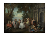 Dance before a Fountain  c1724