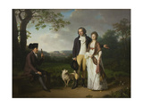 Ryberg with his Son Johan Christian and his Daughter-in-Law Engelke  née Falbe  1797