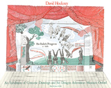 Stage Set Design from The Rakes Progress Reproduction pour collectionneurs par David Hockney