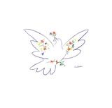 Dove with Flowers Reproduction d'art par Pablo Picasso
