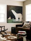 Constellations Polar Bear Impression sur toile par Ryan Fowler