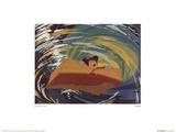 Walt Disney's Fantasia: The Whirlpool Reproduction d'art par Disney