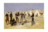 Roasting the Christmas Beef In A Cavalry Camp  c1892
