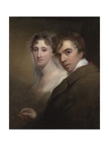 Self-Portrait of the Artist Painting His Wife  c1810