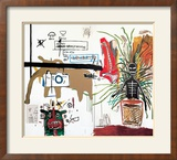 Wicker, 1984 Reproduction giclée encadrée par Jean-Michel Basquiat