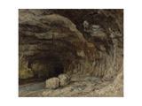 Grotto of Sarrazine near Nans-sous-Sainte-Anne  c1864