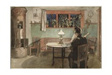 When the Children have Gone to Bed  from 'A Home' series  c1895