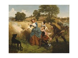 Mrs Schuyler Burning Her Wheat Fields on the Approach of the British  1852