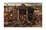 Christ Driving the Traders from the Temple  c1570-5