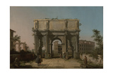View of the Arch of Constantine with the Colosseum  1742-5