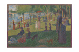 "Study for ""A Sunday on La Grande Jatte""  1884"