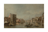 The Grand Canal in Venice with Palazzo Bembo  c1768
