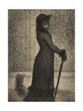 Une Elegante  Woman Strolling  c1884