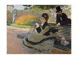 Camille Monet on a Garden Bench  1873