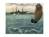 """The """"Kearsarge"""" at Boulogne  1864"""