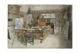 The Studio  from 'A Home' Series  c1895