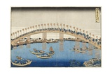 Temma Bridge  Settsu Province  Series Wondrous Views of Famous Bridges  Various Provinces  c1835