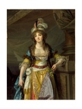 Portrait of a Lady in Turkish Fancy Dress  c1790