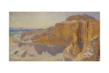 Cliffs at Deir el Bahri  Egypt  1890-91