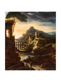 Evening: Landscape with an Aqueduct  1818