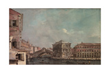 The Grand Canal above the Rialto  c1760
