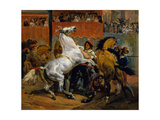The Start of the Race of the Riderless Horses  1820