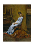 The Artist's Wife and His Setter Dog  c1884-89