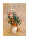Vase of Flowers (Pink Background)  c1906