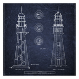 Buffalo Lighthouse Navy Reproduction d'art par Tina Carlson