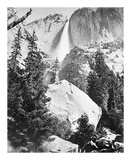 Upper Yosemite Falls, Yosemite Reproductions de collection premium par Carleton E Watkins
