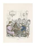 Un Cafe Reproductions de collection premium par Jean-Jacques Grandville