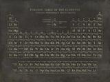 Tableau de classification périodique des éléments Giclée par The Vintage Collection