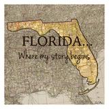 Story Florida Reproduction d'art par Tina Carlson