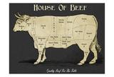 House Of Beef Reproduction d'art par Tina Carlson
