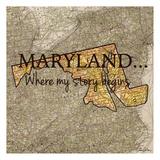 Story Maryland Reproduction d'art par Tina Carlson