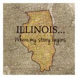 Story Illinois Reproduction d'art par Tina Carlson
